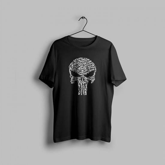 Punisher Kurukafa Tasarımlı Tshirt
